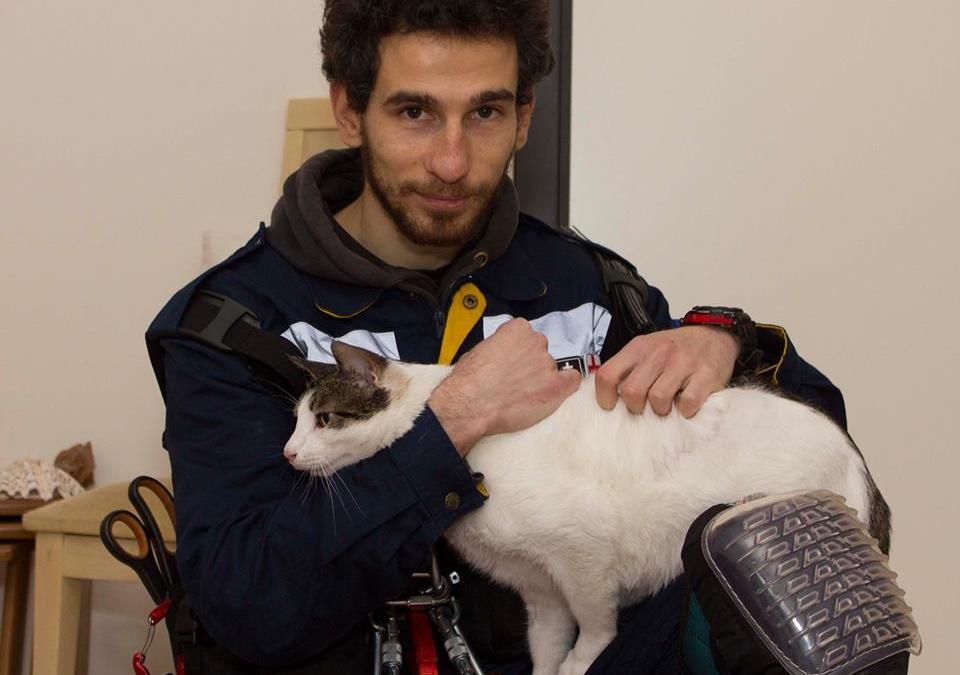 Reunited: Stavrakas with his rescuer Christos