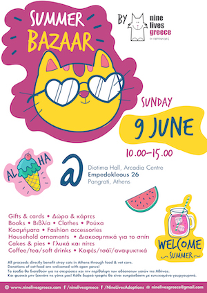 Poster for Nine Lives Summer Bazaar 2019